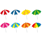 8種類のビーチパラソルのイラスト素材