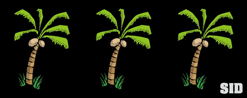 ヤシの木の手書き風イラスト