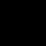 サーフィンをする男性の影絵6点セット