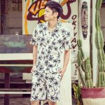 椰子の木 アロハシャツ