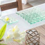 プルメリアのガラスプレート