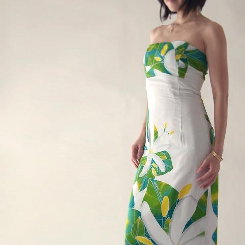 タヒチアン パレオのドレス